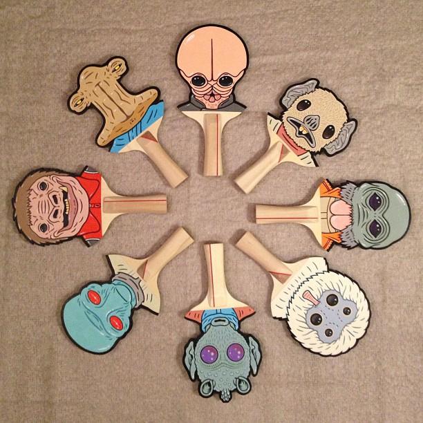 Matt Ritchie Geek Art Design Star Wars Pop Culture Star Wars Paddles