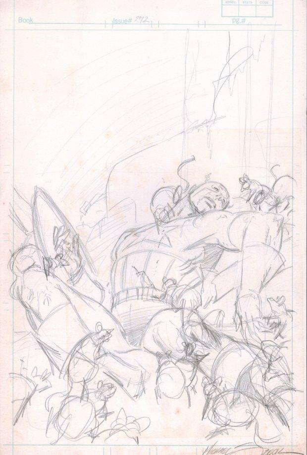 CAPTAIN AMERICA #272 COVER PRELIM (1982) Mike Zeck Marvel Illustration