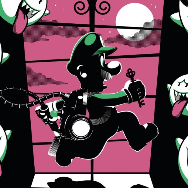 Guillaume Morellec Art Design Pop Art Geek Poster Print Mario Luigi SNES Nintendo