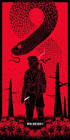 Guillaume Morellec Art Design Pop Art Geek Poster Print Metal Gear Solid Snake Eater