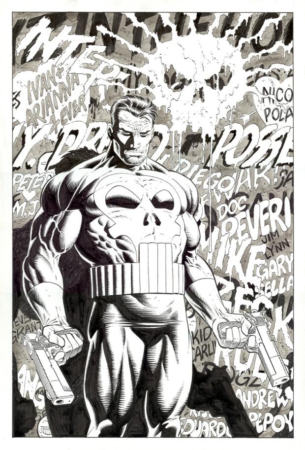 Mike Zeck Marvel Art Comics Punisher Captain America Spider Man Kraven 70s 80s Illustration Covers RTF Skulduggery Return to Fleet 1