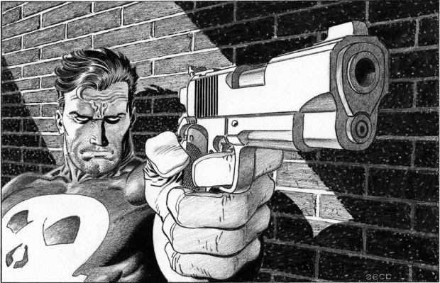 Mike Zeck Marvel Art Comics Punisher Captain America Spider Man Kraven 70s 80s Illustration Covers RTF Skulduggery Return to Fleet 62565
