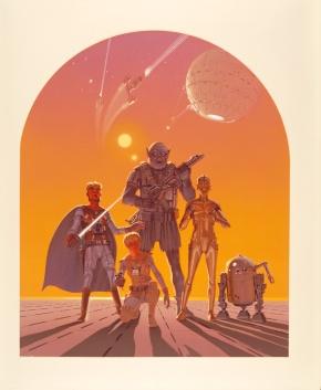 Ralph McQuarrie Star Wars Original Artwork Concept Lucas Films 1