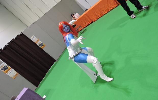 London Comic Con October 2014 Day 1 54 Mystique Cosplay Old School Comics Cartoon X-Men 90s