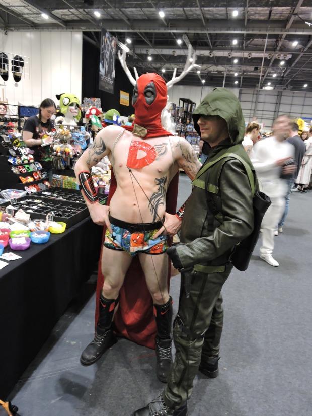 London Comic Con October 2014 Day 1 60 Deadpool Cosplay Marvel Arrow